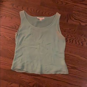St. John Silk Light Blue Tank